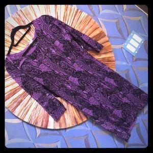 Purple/black light sweater dress Large